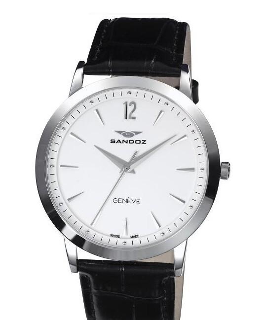 reloj sandoz caballero correa piel 81335-00