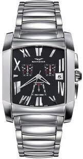 Reloj Sandoz Cuadrado acero QZ EN 36 71559-05