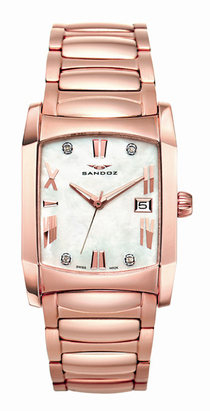 Reloj Sandoz Starlight rosa con diamantes 71586-00
