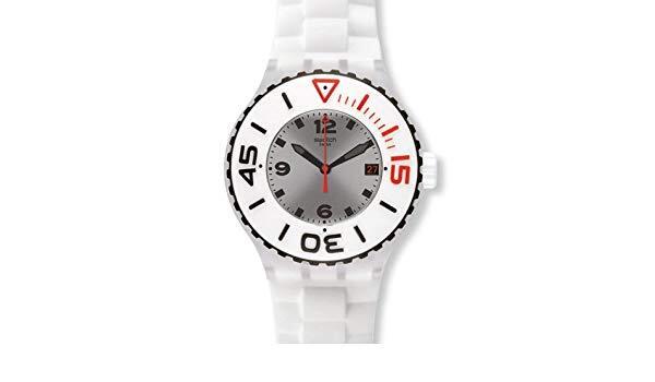 Reloj scuba blanca suuk401 Swatch