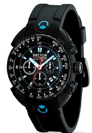 Reloj Sector Shark Master chorno black dial R3271678125