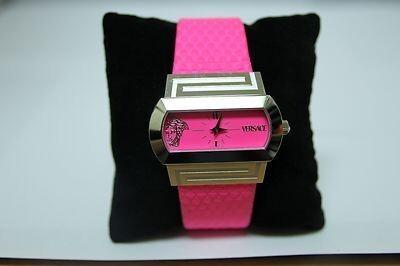 Reloj Versace mujer correa piel fuxia