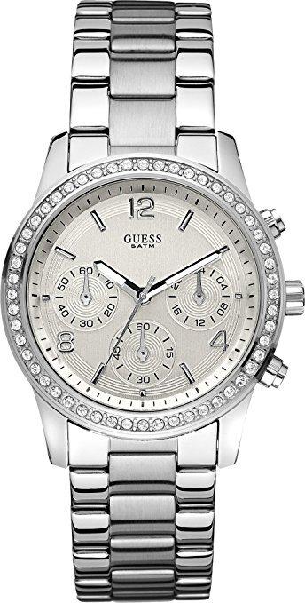 Reloj acero señora  bisel swarosky  W14537L1 Guess
