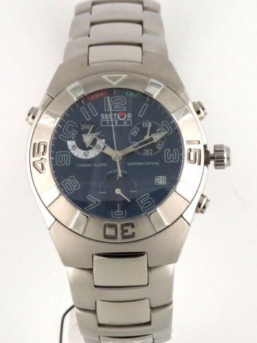 Reloj Sector 750 Crono Alarma Acero esfera azul 2653976035