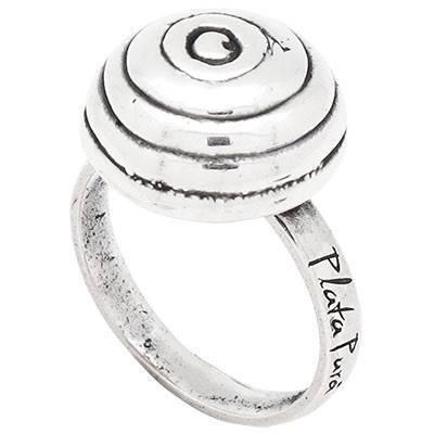 Sortija Plata pura espiral PPA381