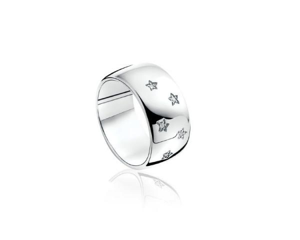 Sortija Plata y Diamantes Zinzi ZDR47