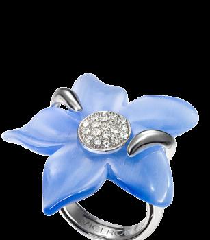 Sortija Viceroy de plata y flor de cristal swarovski 1061A020-93