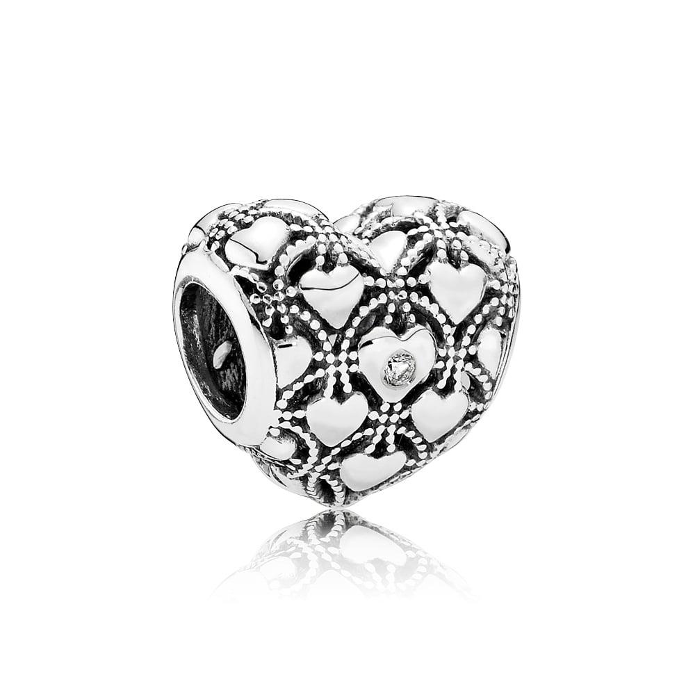 ciondolo pandora diamante