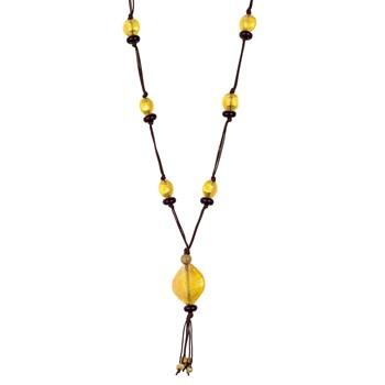 TRINKET NECKLACE WITH STONES IN BALL QUARTZ GOLDEN 8435334800903 DEVOTA AND LOMBA Devota & Lomba