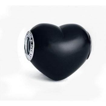 Abalorio de plata Viceroy corazón onix negro VMM0198-05