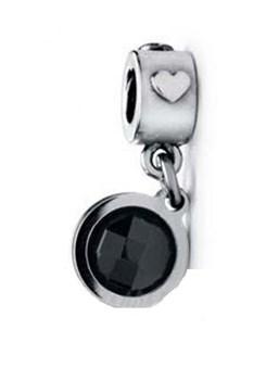 Abalorio de plata Viceroy corazón cristal negro VMM0075-05