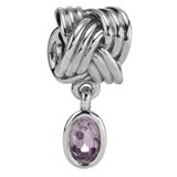 PANDORA BEAD KNOT AND AMETHYST 790476PAM