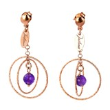 TRINKET EARRINGS PLATED IN ROSE GOLD RINGS PENDANT WITH CRYSTALS LILAC 8435334801436 DEVOTA AND LOMBA Devota & Lomba