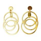 Abalorio pendientes dorados con diseño de aros entrelazados 8435334801504 DEVOTA Y LOMBA Devota & Lomba