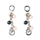 TRINKET EARRINGS WHITE PEARLS AND BLACK 8435334802112 DEVOTA AND LOMBA Devota & Lomba