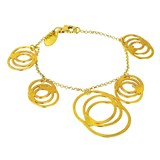 TRINKET GOLD BRACELET WITH DESIGN OF INTERLOCKING RINGS 8435334801498 DEVOTA AND LOMBA Devota & Lomba
