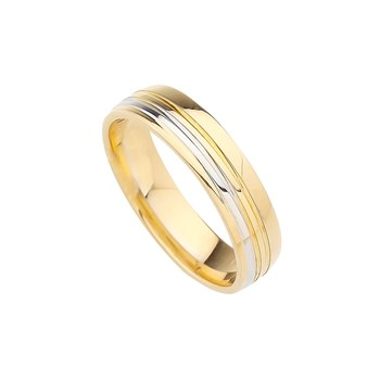 GOLD 4 MM WEDDING RING