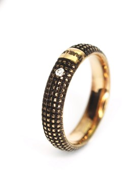 RING ALLIANCE METROPOLITAN BROWN 0126 Damiani