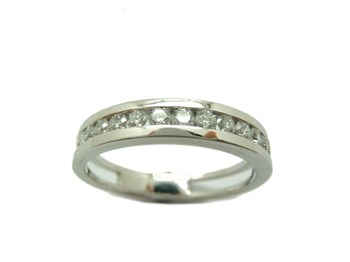 RING ALLIANCE WHITE GOLD AND DIAMONDS. B-79 A-412