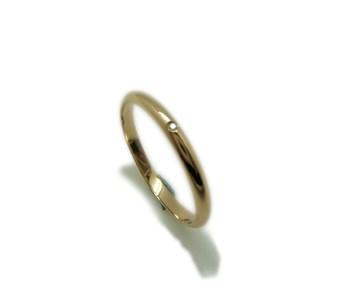 Alliance et bague de mariage demi canne en jaune or et brillant MCOGB15 B-79