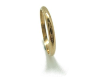 RING ALLIANCE AND MEDIUM SHANK IN YELLOW GOLD WEDDING RING B-79 MCOG27