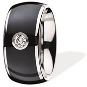 RING XEN FOR WOMEN SURGICAL STEEL WITH DIAMOND 144694GXX01