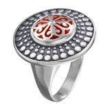 SILVER RING RED