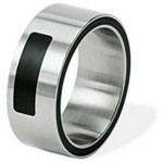 RING FOR MAN XEN SINCERITY OF SURGICAL STEEL AND CERAMIC 011178GXX