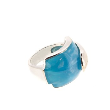 SILVER TURQUOISE STONE RING Stradda 1547A