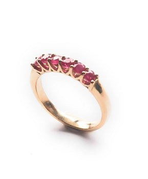RING RUB�IS 18K GOLD