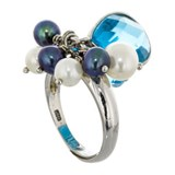 ADJUSTABLE RING BLUE QUARTZ 15-2807
