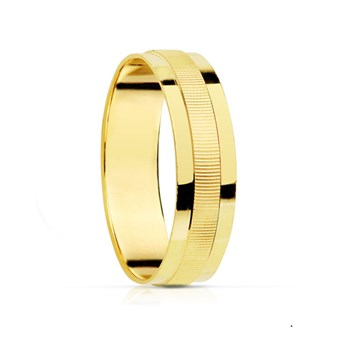 RING ALLIANCE BRIGHTNESS AND STRIPED. 4 MM
