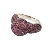 RING BOW WITH GARNET SIZE 13 ASTS002R Amura