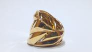 Anillo ancho de plata con baño oro amarillo  Roberto Coin