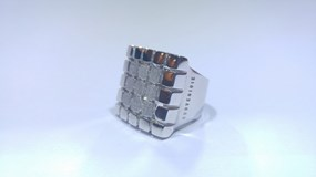 RING WIDTH OF SILVER SQUARE COMBINED SILVER POLISHED AND NUANCED NUOVEGIOIE