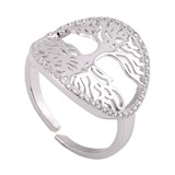 RING TREE OF LIFE ZIRCONIUM 8435445318458 LUA WHITE Lua blanca