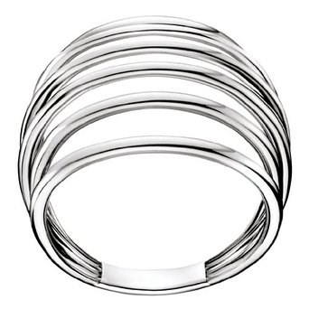CALVIN KLEIN STEEL RING SIZE 14-15 KJ32AR010107