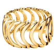CALVIN KLEIN KJ2WPR100106 GOLD-PLATED STEEL RING