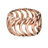 CALVIN KLEIN KJ2WPR100108 ROSE GOLD-PLATED STEEL RING