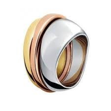 CALVIN KLEIN RING STEEL TRICOLOR KJ95DR300107
