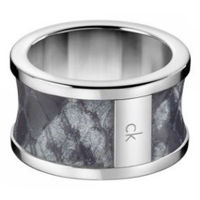 CALVIN KLEIN RING STEEL AND LEATHER SEPIENTE KJ0DAR090107