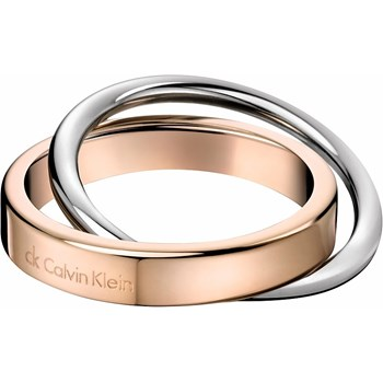 CALVIN KLEIN TWO-TONE RING SIZE 19-20 KJ63BR010109