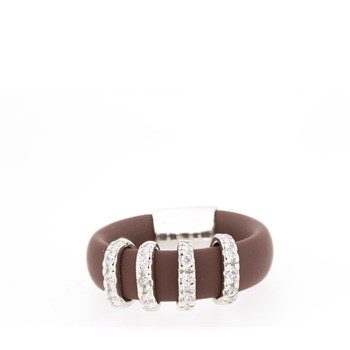 RUBBER RING, SILVER AND STONES  Stradda 33S19-