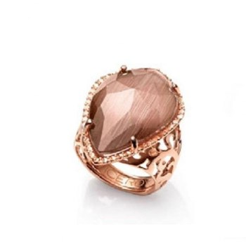 RING PLATED PINK AND GEM EYE CAT SRA BIJOUX Viceroy B1068A015-07