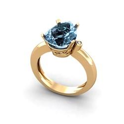 Anillo de Oro amarillo 18 kt  0,02 cts Diamantes y topacio sky pera 13x9 1011053635 Cresber