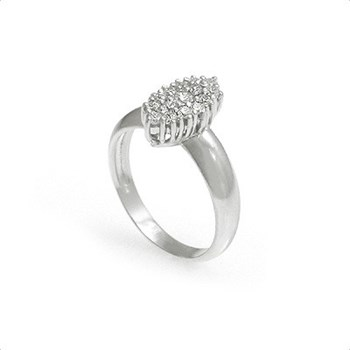RING WHITE GOLD 18KT REASON 0,42 CTS DIAMONDS, CRESBER