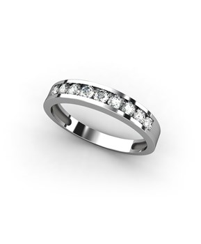 RING WHITE GOLD 18 KT MEDIA ALLIANCE WITH 0,45 CTS DIAMONDS, CRESBER
