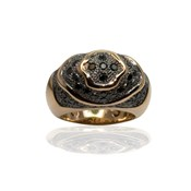 RING OF PINK GOLD 18 KT WITH 1,20 CTS BLACK DIAMONDS, CRESBER