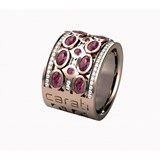 RING OF GOLD ROSE, RHODOLITE GARNET AND DIAMOND. LCD-3051 / 12 Oreage LCD-3051/12