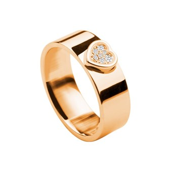ROSE GOLD AND DIAMOND RING. OREAGE-1993
